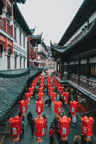 Chinese street decorations