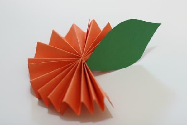 Paper Orange Leaf