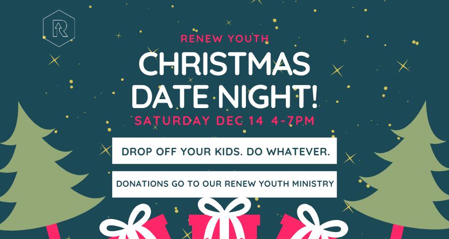 Christmas babysitting fundraiser e-flyer
