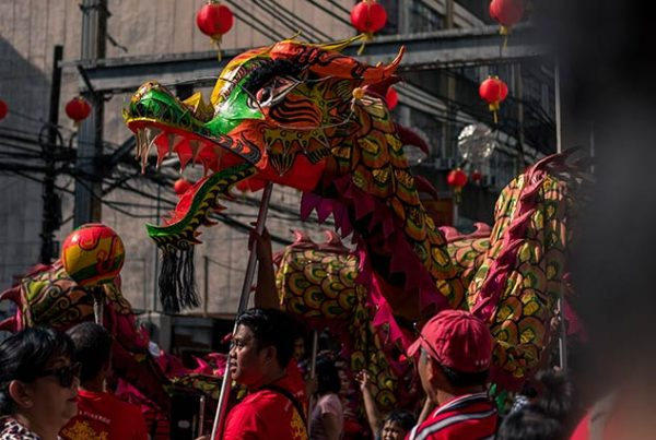 Chinese dragon in street festival