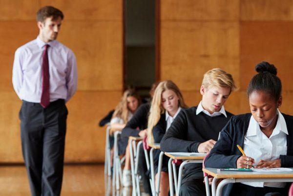 Students sitting GCSE exams
