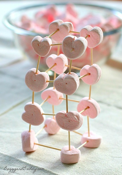 Marshmallow toothpick structures