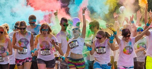 High school colour run