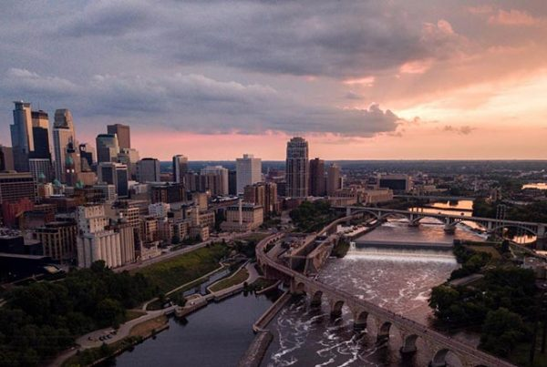 Minnesota at sunset