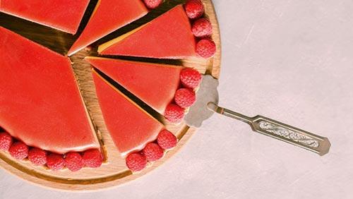 Pie cut into slices