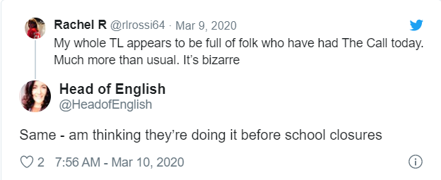 Teacher tweet screenshot