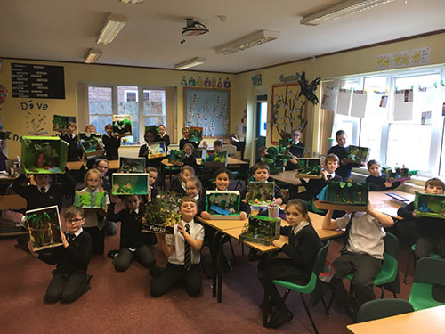 Primary students take on Rainforest project