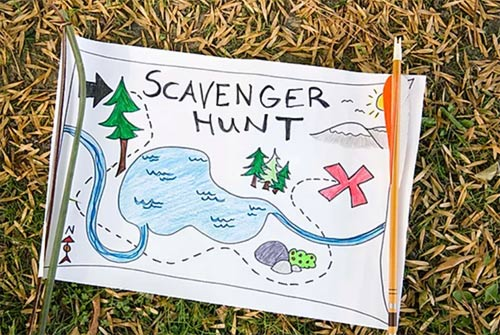 Engage children in a scavenger hunt in the garden