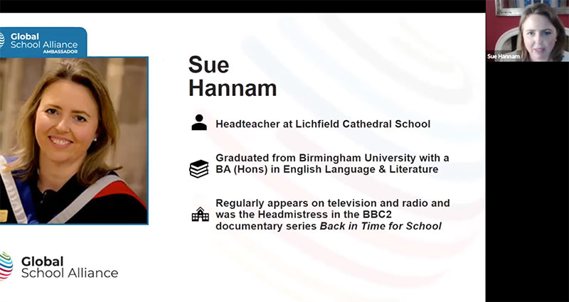Sue Hannam Speaking at a Global School Alliance conference